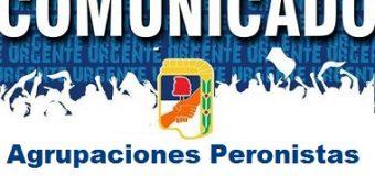 Agrupaciones Peronistas de Sáenz Peña fijan posición respecto a las acciones de Bonadío