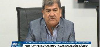 Nievas aclara que no hay imputados, y que Peppo no tolerará actos de corrupción