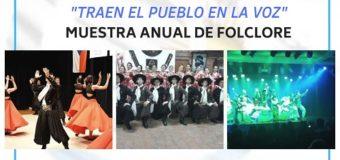 Muestra anual de Folclore en el Centro Cultural Municipal