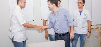 Bruno Cipolini recibió a los sáenzpeñenses que accedieron a Jóvenes con Más y Mejor Trabajo