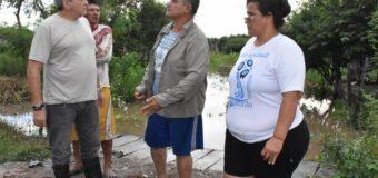 Bojanich en Quitilipi recorrió las zonas inundadas