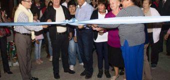 Se inauguró el pavimento e iluminación  en el barrio Yapeyú