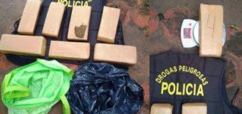 Secuestran 5 kilos de marihuana y detienen dos personas
