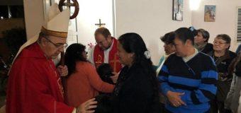 Por Pentecostés el Obispo realizó visitas pastorales a la zona norte