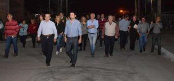 Cipolini inauguró pavimento e iluminación en la calle 35 del barrio Puigbó