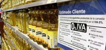 Alimentos aumentan sus precios por la reimplantación del IVA
