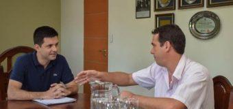 Hugo Lisboa y José Giulioni, fueron recibidos por el intendente electo Bruno Cipolini