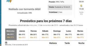 Llueve en todo el interior, y en Sáenz Peña se esperan lluvias de hasta 60 mm