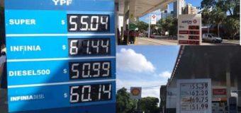 Ya rige el nuevo aumento y la nafta Super llegó a los $55