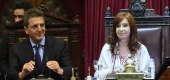 Cristina y Massa congelaron las dietas de los legisladores nacionales