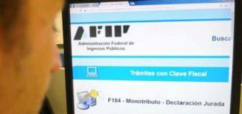 Rigen las medidas de alivio fiscal para Monotributistas dispuestas por la AFIP
