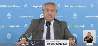 AlbertoF anunció fin del aislamiento social, preventivo y obligatorio