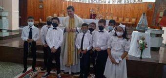 Iniciaron las Primeras Comuniones en la Parroquia San Roque