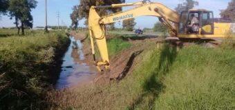 Avanza la obra de ampliación del canal de calle 33 y Ruta 95