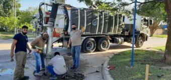 Continúan los trabajos de saneamiento y planifica obras en la red cloacal