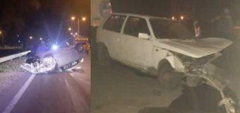 Accidente en Colectora deja daños en dos autos y menores lesionados